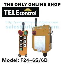 Wholesales price F24-6S 12v wireless remote control for crane with 6 buttons 1 speed industrial remote cotnrol