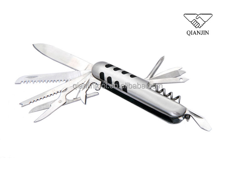 11 In 1 Portable Multifunctional Swiss style camping army Knife