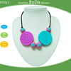 100% Food Grade Silicone Teether bead Necklace silicone pendant for kids-PT015