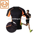 Men athletic running fitness workout compression t shirt