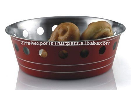 Colored Regular Bread Basket with Round Cutting