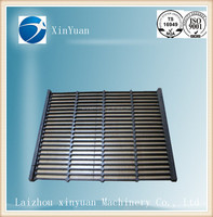 customized any size casting iron/steel gratings drain trench cover