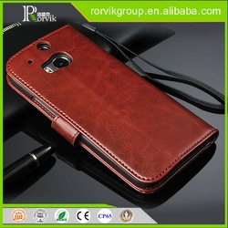 Hight quality magnetic Leather case for HTC M8 phone