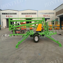18 m hydraulic drives towable trailer compact boom lift