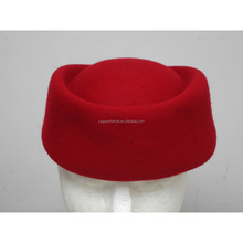 Air hostess uniform hats .air waitress hats. wool felt stewardess hats