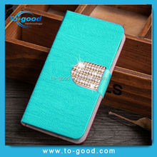 Free Sample Hot Selling 6 Colors Wood Line Pattern Phone Wallet For Samsung Galaxy S5 i9600 Case Cover