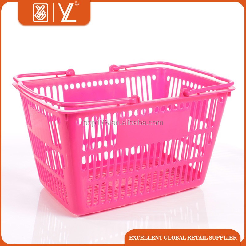 Cosmetic store shopping plastic basket with handle
