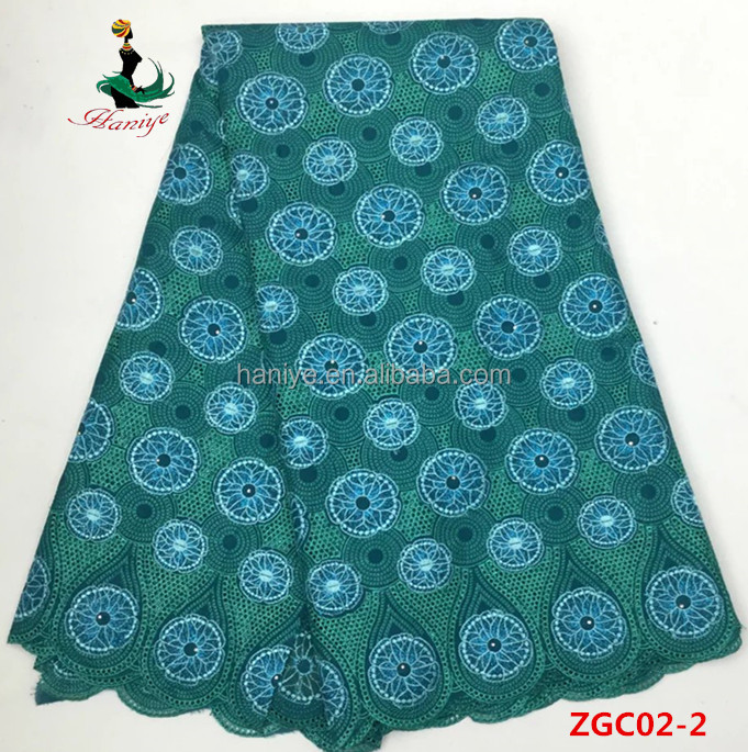 New sample cotton lace fabric 100% cotton african french net tulle lace wholesale ZGC02