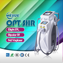 China beauty equipment manufacturer multi-function beauty instrument opt e light ipl rf nd yag laser 4 in 1