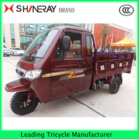 2016 Hot enclosed 3 wheel double seat motorcycle 250CC tricycle