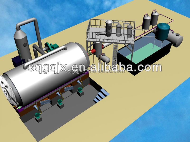 Hot sales waste tyre recycling pyrolysis plant,waste oil to diesel oil distillation plant