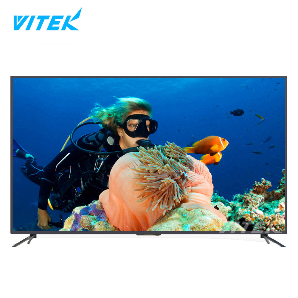 "Vitek Cheap Wholesale Price UHD 49"" LED 4K Smart TV, Ultra HD 2160P Android 49 inch TV, 2018 World Cup Promotion Fashion TV Hot"