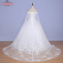 New Style Korean Style Off- Shoulder Floor-Length Expensive Lace Wedding Dress Gown