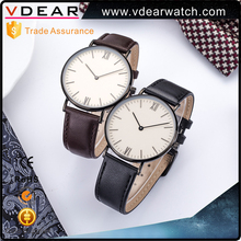 Good quality polished stainless steel case mens watches minimalist customize your own watch