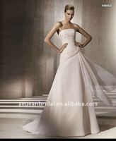 2012 Embellished pleated chiffon strapless design baju pengantin XZ-wd1519