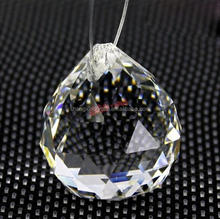 40mm faceted decorative glass crystal ball K9 material
