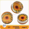 TP02981 saddle uv acrylic sunflower ear expander piercing ,beautiful ear expander , acrylic plug tunnels piercing