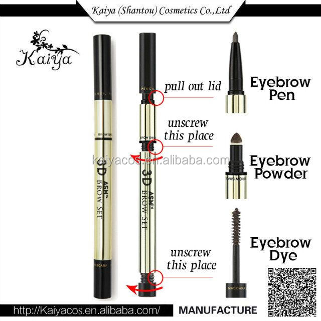 Best Fashion Women Makeup 3 In 1 Triad Stereo Eyebrow Pencil Eyebrow Powder Stick Dyeing Styling Cream Shaping 3D Double Eyebrow