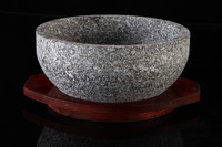 Granite portable stone bowl kitchen cookware set