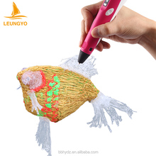 LEUNGYO colorful plastic refills 3D painting 3D pen drawing pen 3D