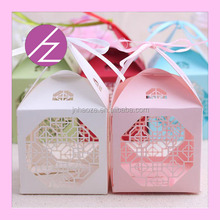 Popular paper Christmas gift box laser cut wedding thank you guests gifts TH-73