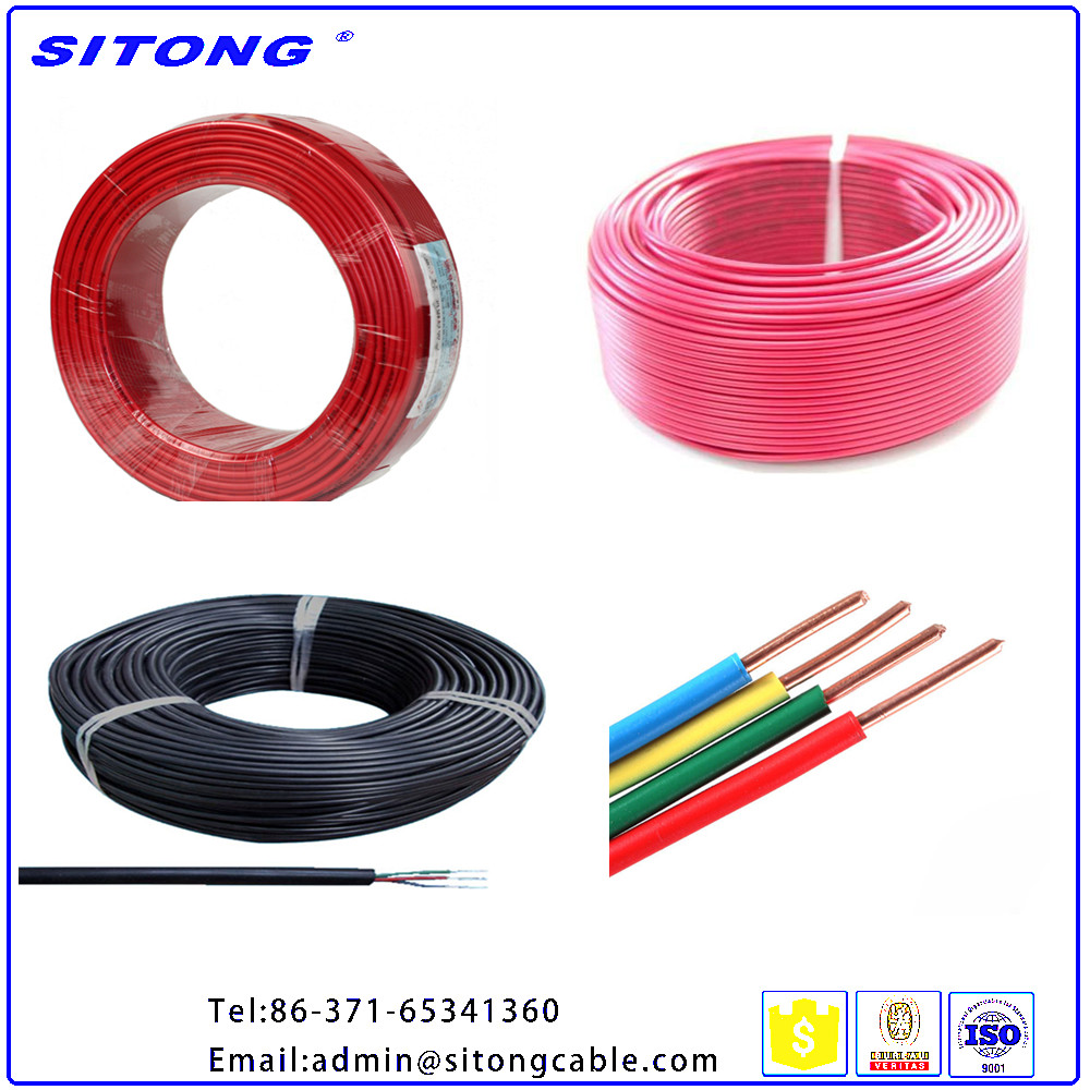 Stranded Copper Conductor Type and PVC Insulated Electrical Wire Building or House Cable