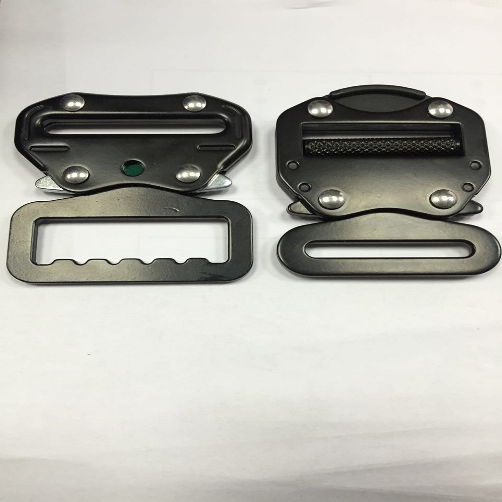 2 inch black coated 23KN metal buckle