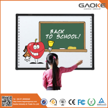 China hangzhou gaoke electronic display board ce 82'' 96'' 104'' 130'' small electronic whiteboard iq white teaching board