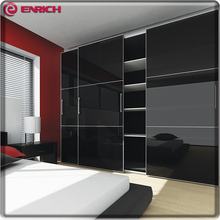Customized closet with sliding door acrylic surface simple modern almirah designs wooden wardrobe closet