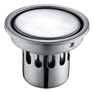 Supor-5191S1-01-LS 304 stainless steel Shower Washer Waste Round Stealth Odorization Bathroom Floor Drain