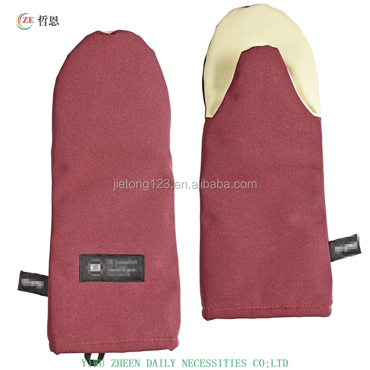 "Temperature Protection 15"" Length Oven Mitt with Kevlar"