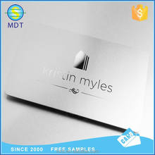 wholesale free sample custom laser cut silver embossed metal business card