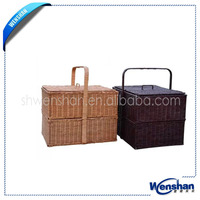 wholesale empty wicker picnic baskets
