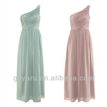 ladies evening wear one shoulder formal long green dress