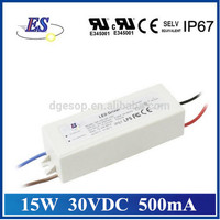 15W 30V 500mA Constant Current Dimmable LED Driver with 3 in 1 Dimming