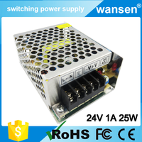 Hot sell S-25 24v 0.75a power adapter dc 24v 1a power supply S-25-24
