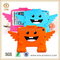 Little angel shape kid shockproof Portable Silicone case for ipad mini