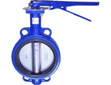 CF8 Wafer Type Handles Butterfly Valve