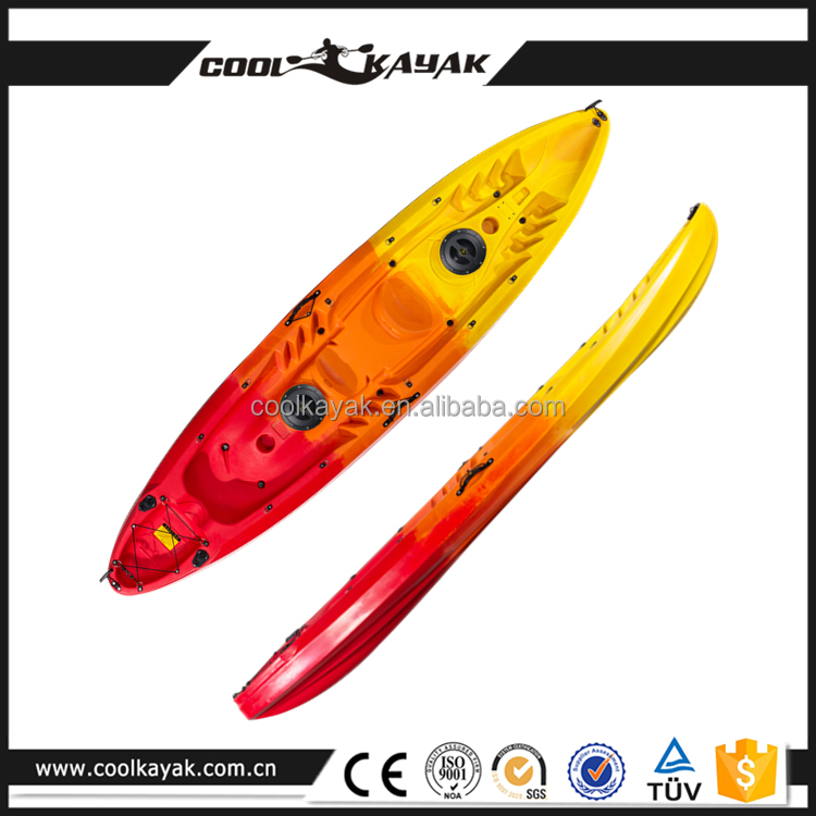 3 person no inflatable plastic fishing kayak family rowing boat for sale