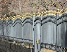 Elegant iron pipe fence, wrought iron fence, strong iron security privacy fencing