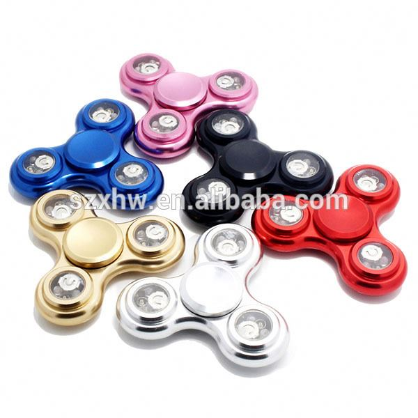 Led spinner price drop ziny alloy material hand spinner for Stress Release fidget spinner