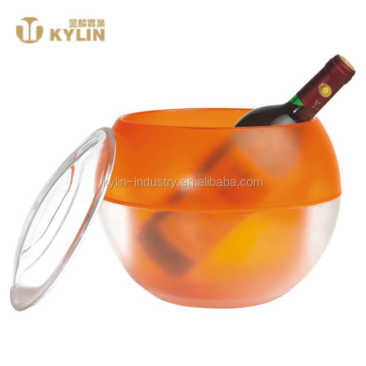 Alibaba supplier wholesale high quality ball shaped customized ice bucket