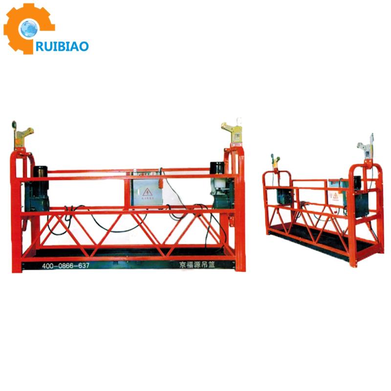 aluminium galavnzied stee window cleaning weight lifting industrial electric lift weightlifting elevated work suspended platform
