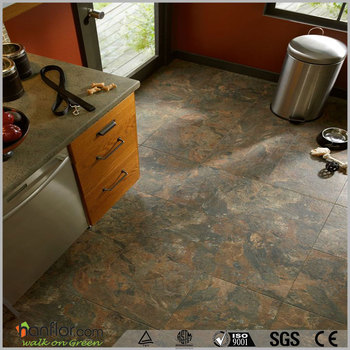 Kitchen use waterproof pvc flooring tile