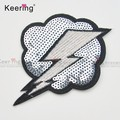 Fashion Sew On Iron On Patch Applique For BikerJacket WEFB-047