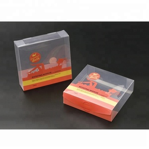 Customizable PVC blister packing box, clear Recyclable plastic gift box, transparent blister cosmetic box