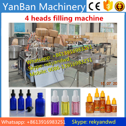30ml 50ml glass bottle e-liquid filling capping machine line 50 bottles per min