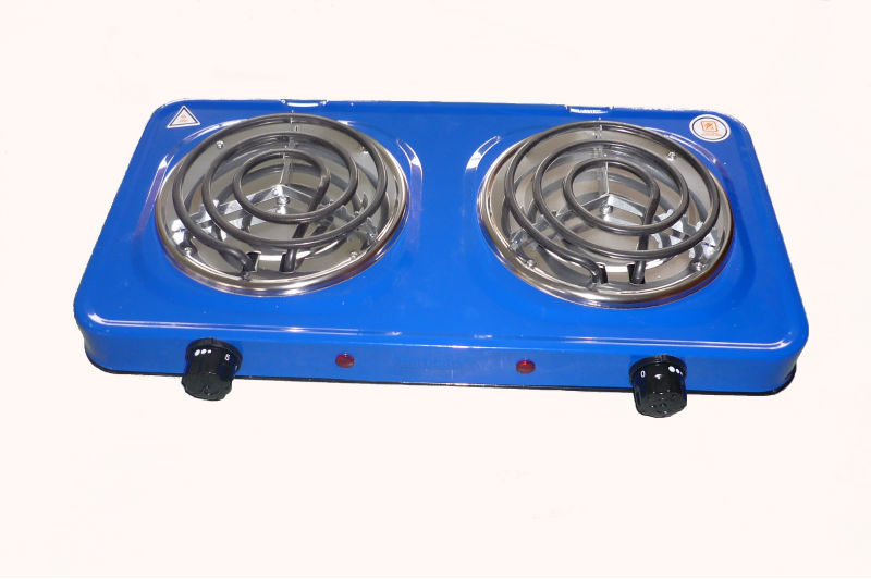 double electric hot plate stove