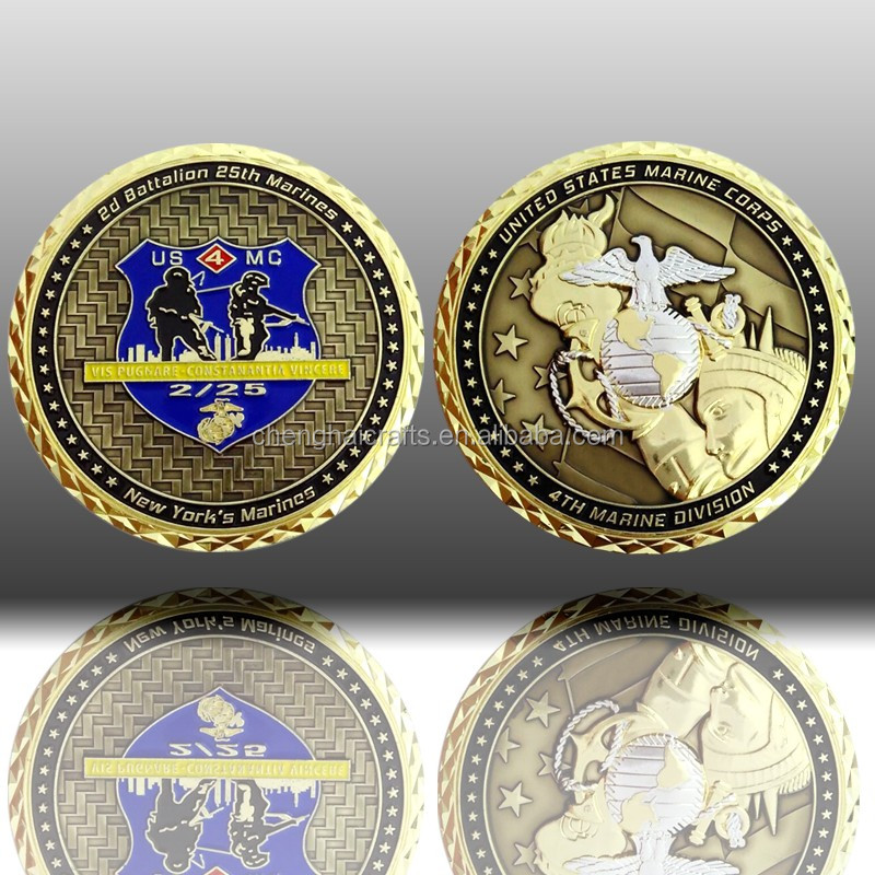 special custom metal double coin