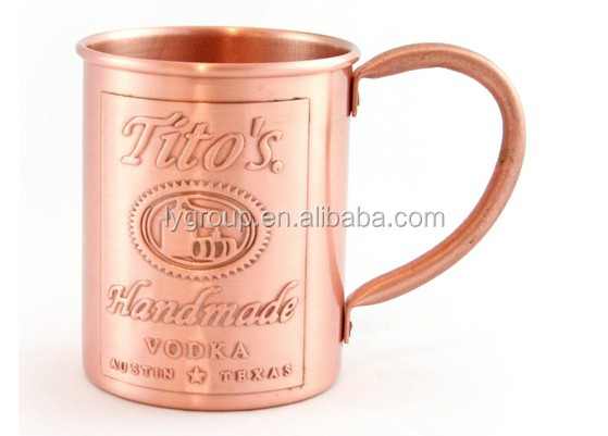 Copper Barrel Mug Moscow Mules - 15oz - 100% Pure Hammered Copper